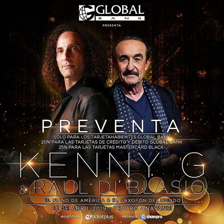 Photo of Pre venta para concierto de Kenny G y Raúl Di Blasio en Panamá