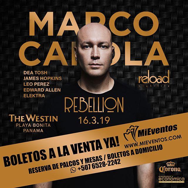 Photo of Pre venta para Rebellion con el DJ Marco Carola en Panamá