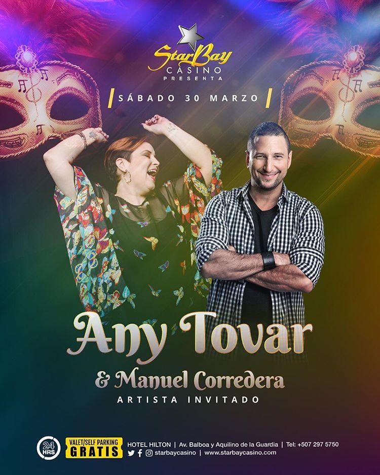 Photo of Starbay Casino presenta Any Tovar y Manuel Corredera