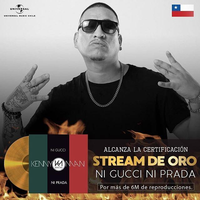 Photo of Kenny Man alcanza Stream de Oro con «Ni Gucci Ni Prada»