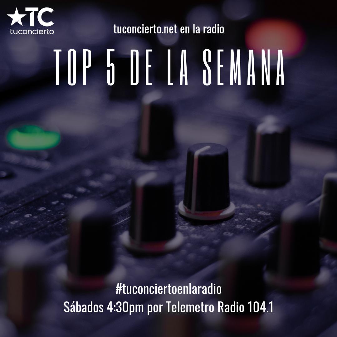 """Photo of """"Top 5"""" de la semana de Tuconcierto.net"""