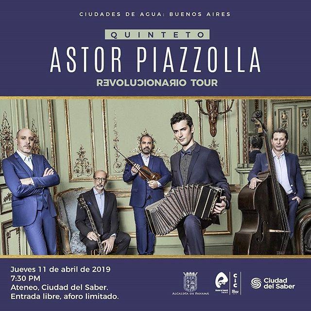Photo of Concierto de «Quinteto Astor Piazzolla» en Panamá