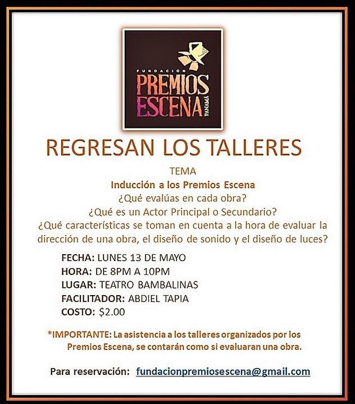 Photo of Regresan los Talleres en Premios Escenas