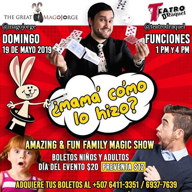 Photo of Show de magia 'Mamá como lo Hizo' en Teatro D´Raquel