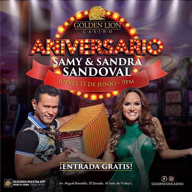 Photo of Golden Lion celebra su aniversario con Samy y Sandra Sandoval