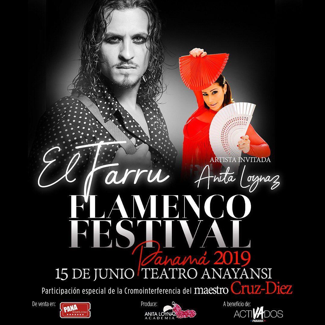 Photo of El Farru y Anita Loynaz en Flamenco festival Panamá 2019