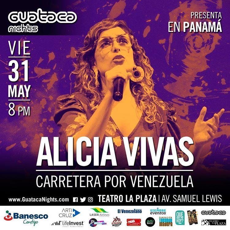 Photo of Alicia Vivas en concierto en Guataca Nights