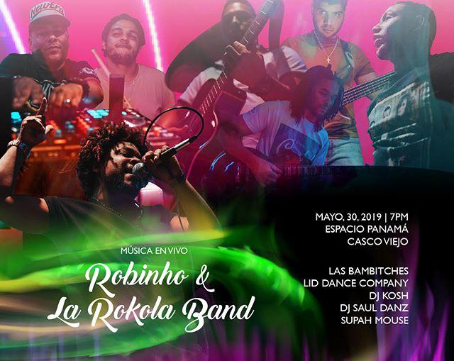 Photo of Música en vivo con 'Robinho & La Rokola Band'