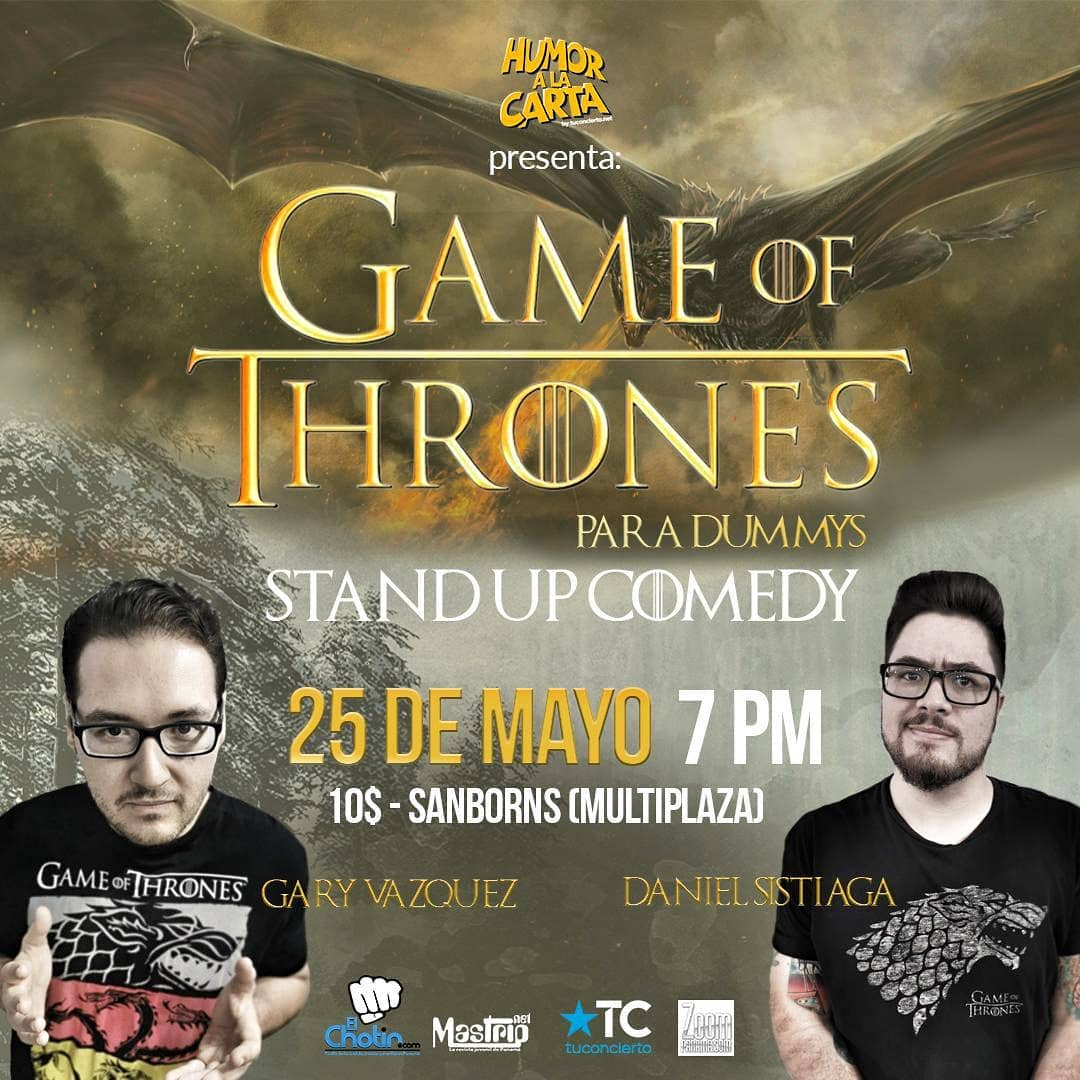 Photo of Humor a la Carta by tuconcierto.net presenta 'Game Of Thrones para Dummys'