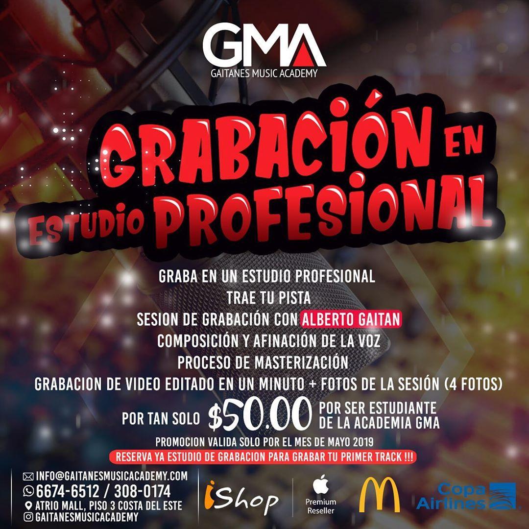 Photo of 'Gaitanes Music Academy' te trae la oportunidad de 'Grabación en Estudio Profesional'