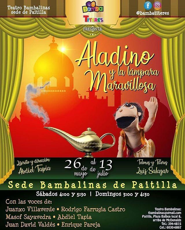Photo of Gran Estreno de 'Aladino y la Lámpara Maravillosa' en Bamba Titeres