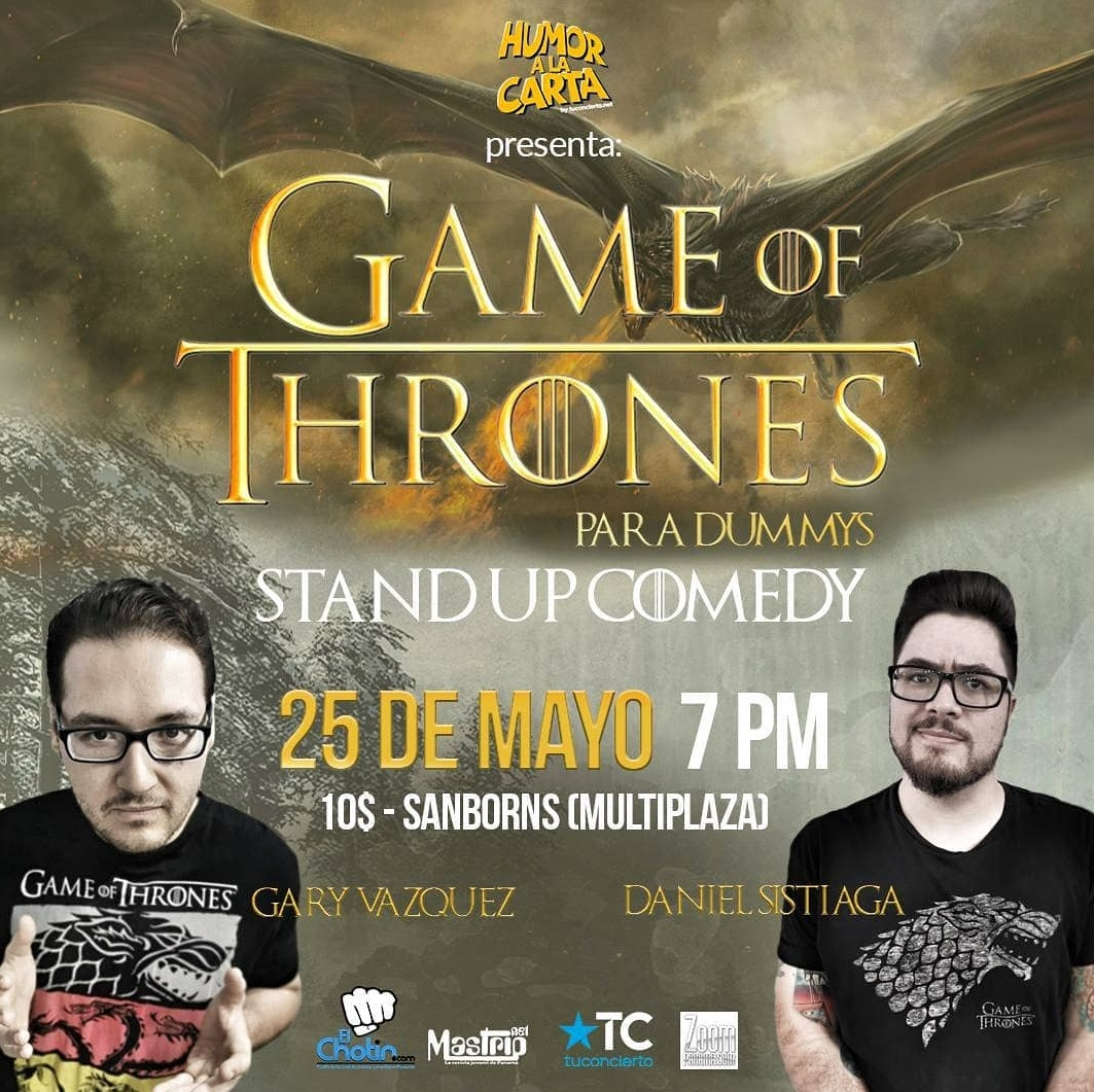 Photo of Esta noche Humor a la Carta presenta 'Game of Thrones para Dummys'