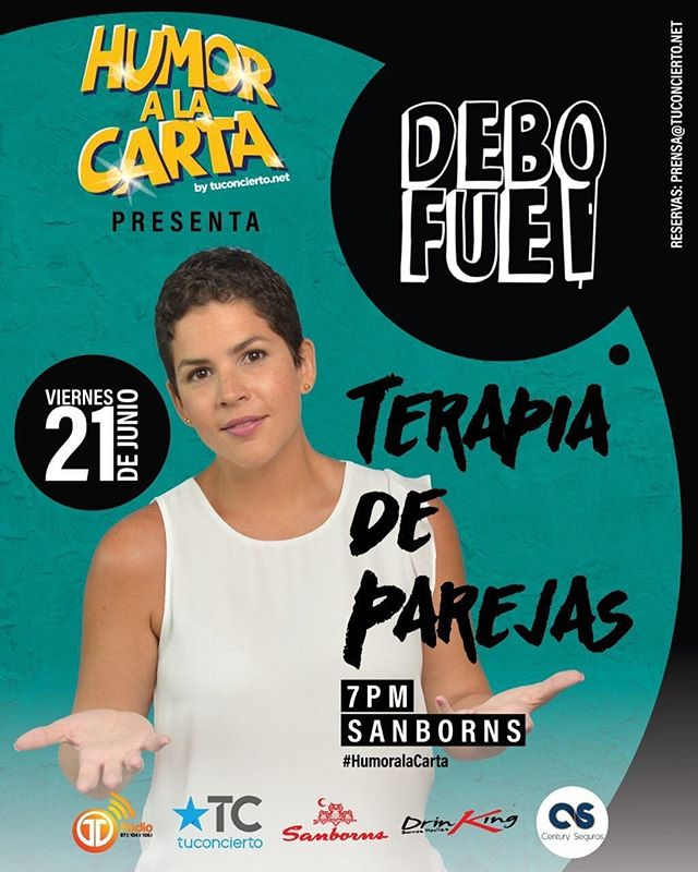 Photo of Llego el Stand Up Comedy 'Terapia Para Parejas' con la talentosa Debora Fuentes