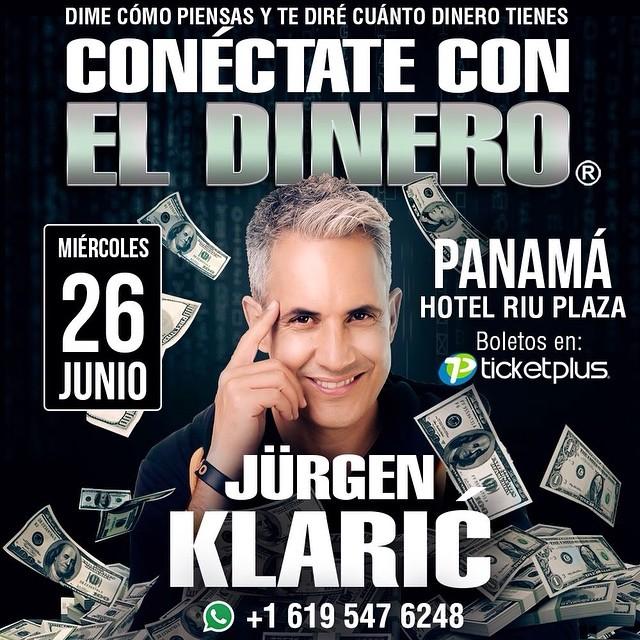 Photo of Jürgen Klaric llega a Panamá con su conferencia 'Conéctate Con El Dinero'