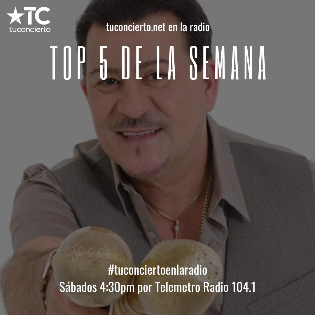 """Photo of Tito Rojas en el """"Top 5"""" de la semana de Tuconcierto.net"""