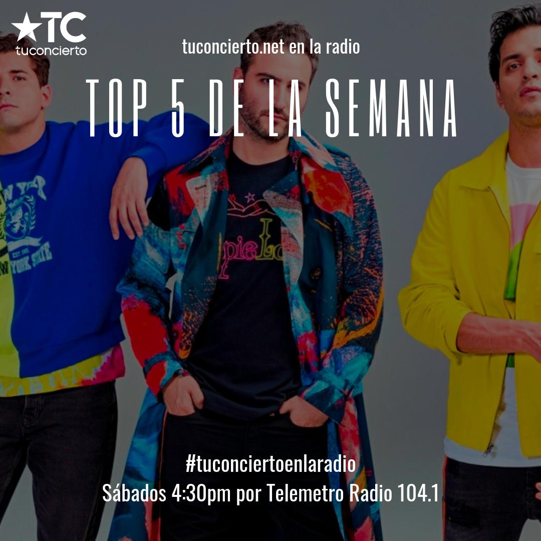 """Photo of Reik en el """"Top 5"""" de la semana de Tuconcierto.net"""