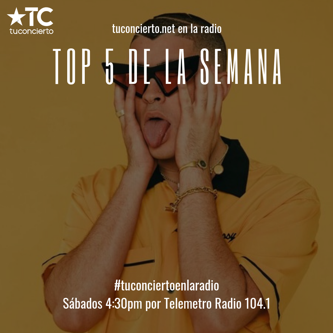 "Photo of Bad Bunny en el ""Top 5"" de la semana de Tuconcierto.net"