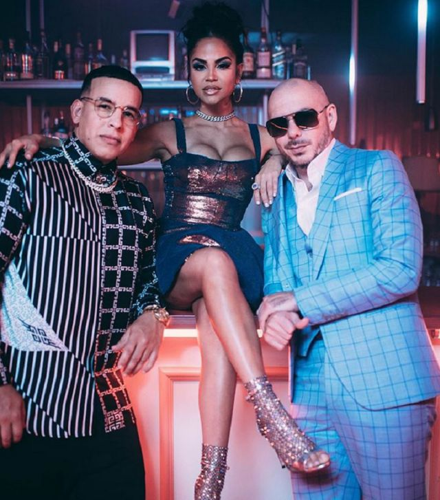 Photo of Detrás de Cámaras de 'No lo Trates' de Pitbull, Daddy Yankee y Natti Natasha