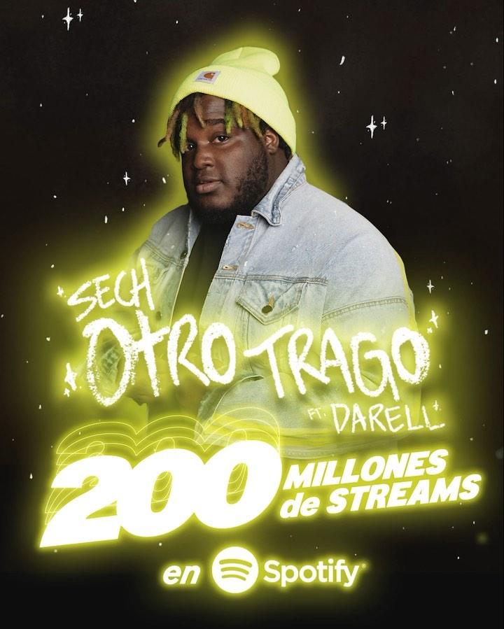 Photo of 'Otro Trago' Sech llegá a 200 millones de streams en Spotify
