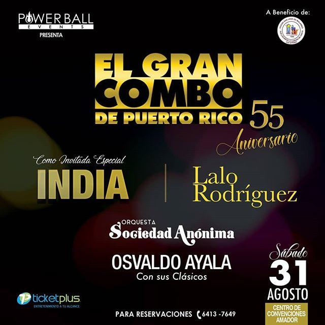 Photo of El Gran Combo de Puerto Rico estará en Panamá junto a La India y Lalo Rodríguez