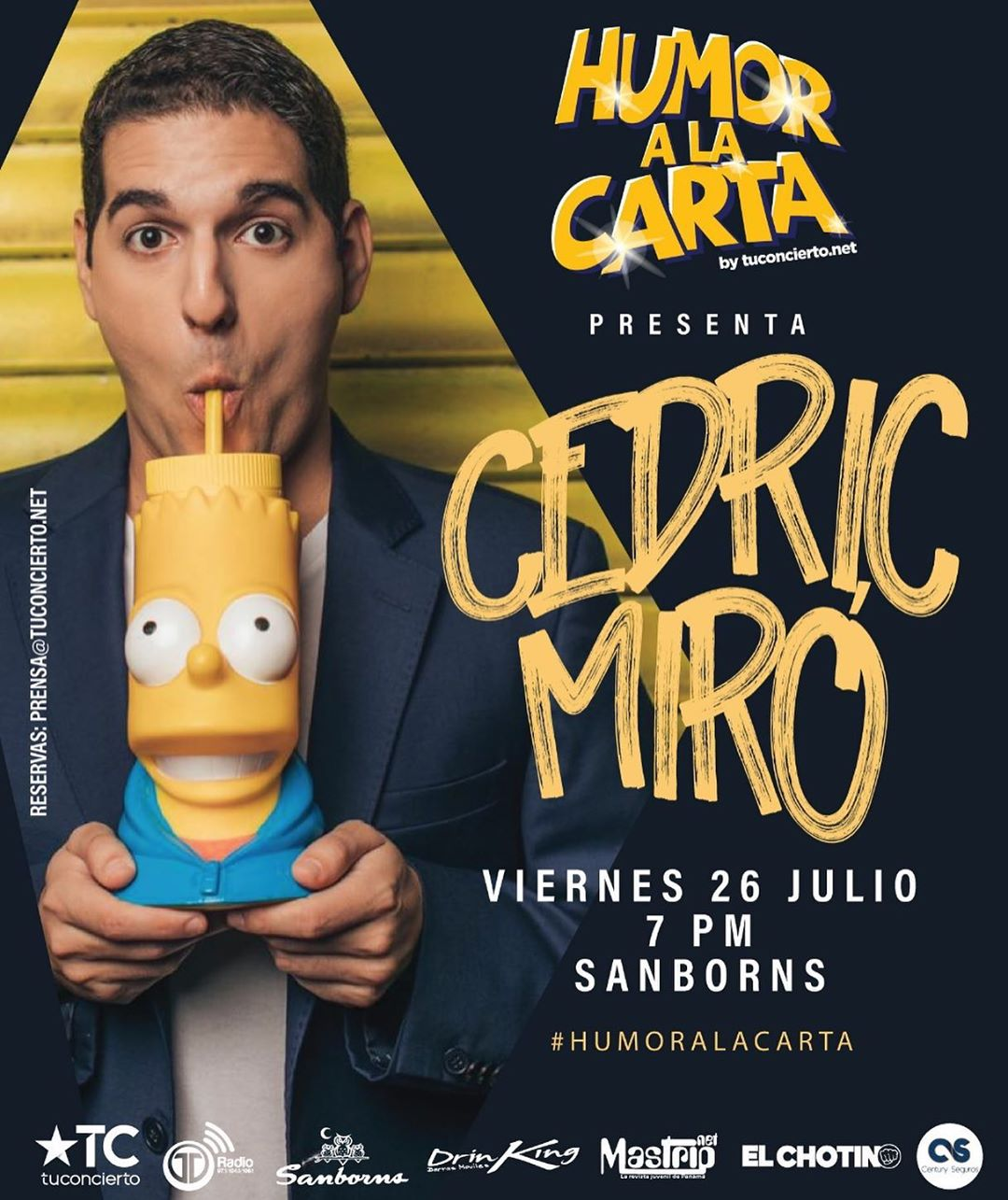 Photo of Este 2019 'Cedric Miró' regresa a Humor a la Carta by @tuconcierto