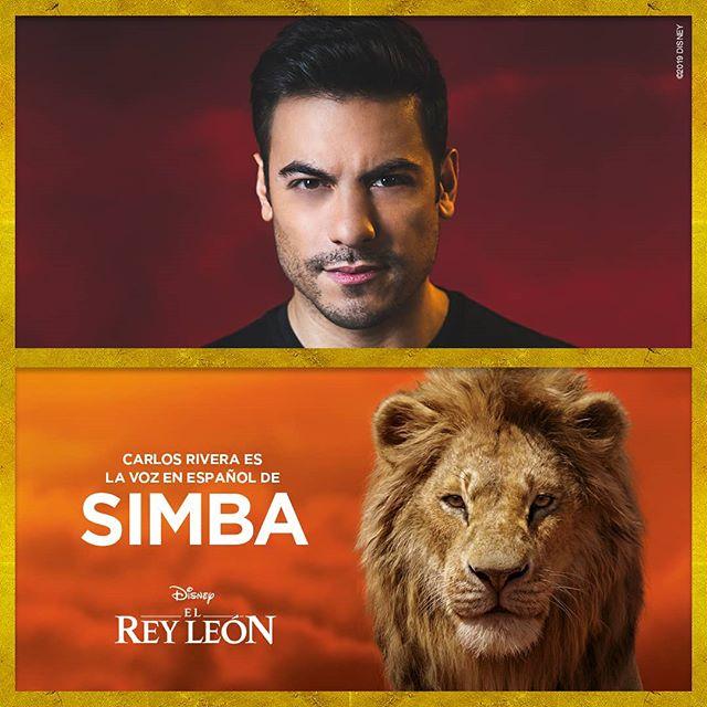 Photo of Carlos Rivera será la voz de Simba en 'El Rey León' versión doblada al español