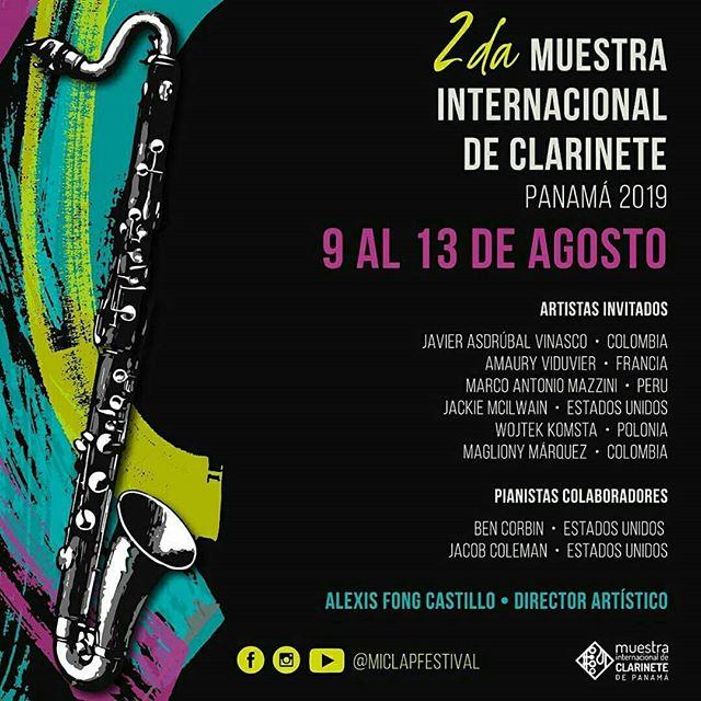 Photo of 2da. Muestra Internacional de Clarinete de Panamá 2019 del 09 al 13 de agosto