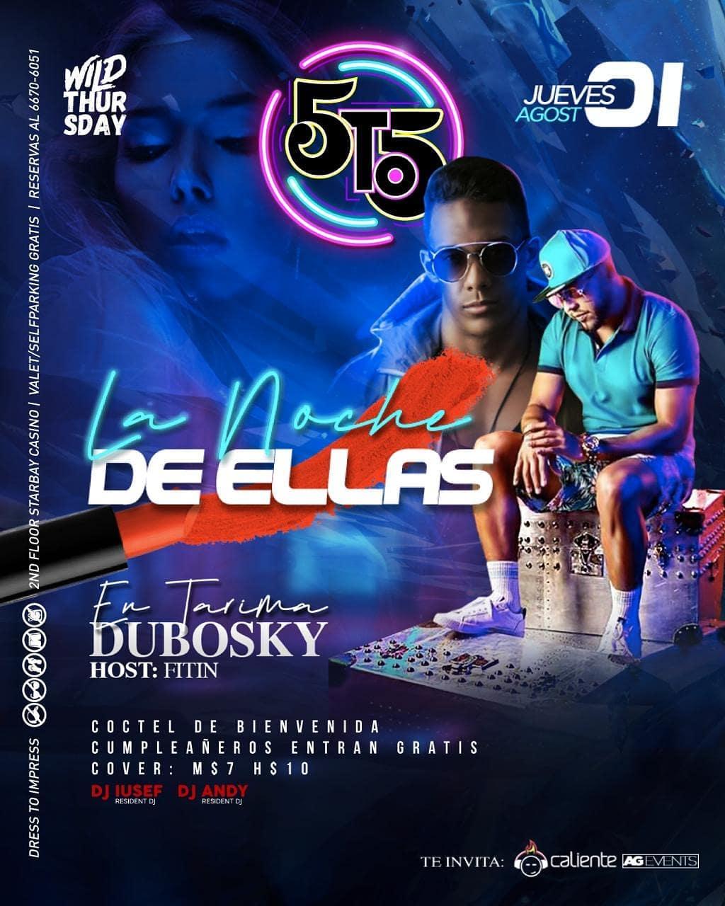 Photo of 5to5 presenta 'La Noche de Ellas' con Dubosky en tarima