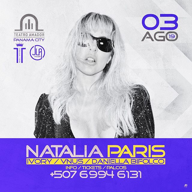Photo of Natalia París estará en Panamá