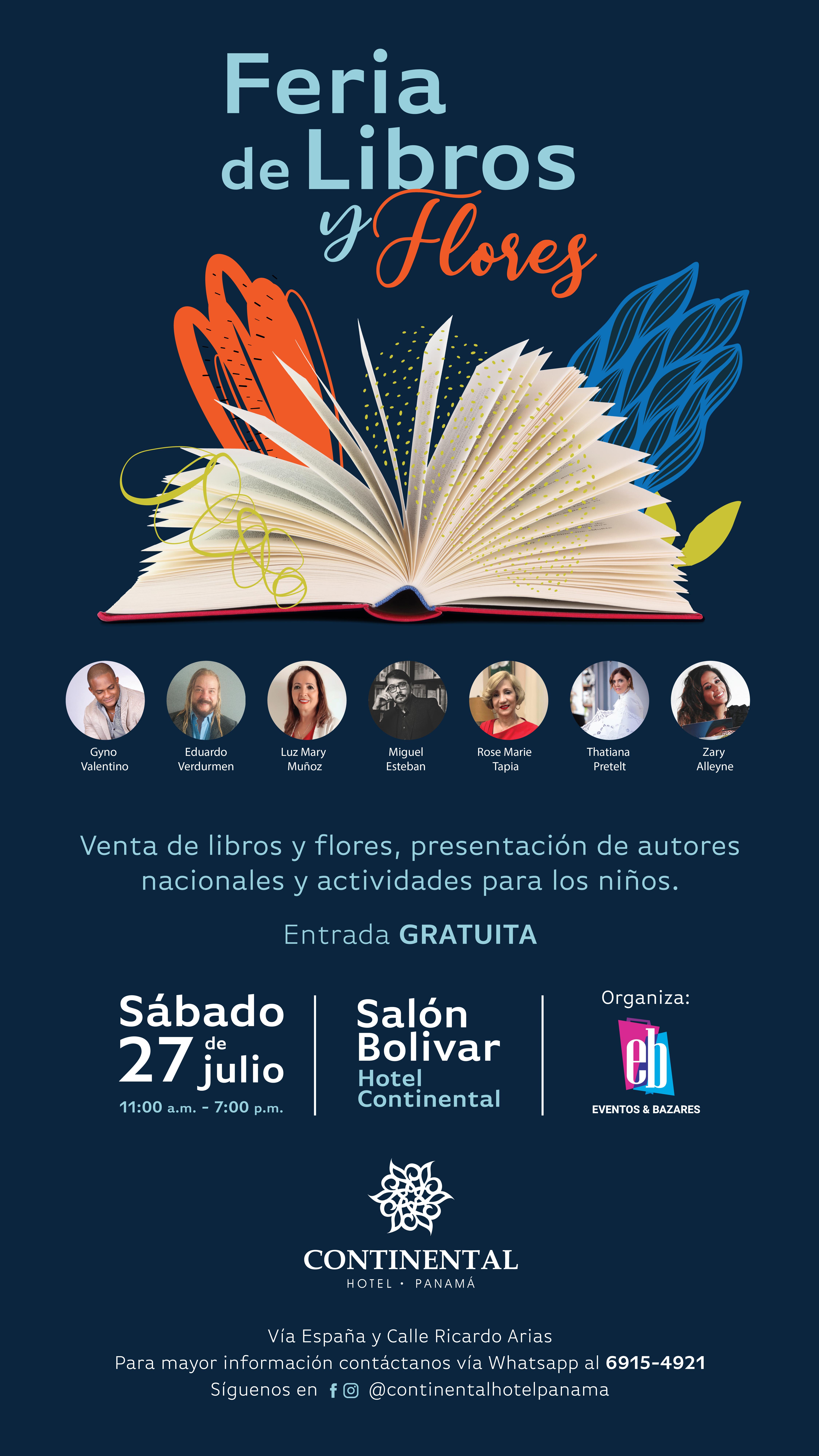 Photo of Panamá presenta la 1era. Feria de libros y flores con acceso totalmente gratis