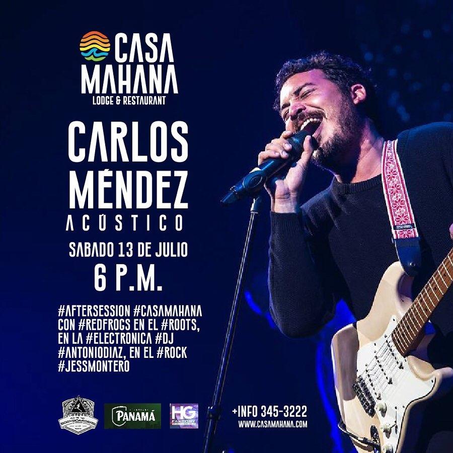 Photo of Carlos Méndez en concierto en Casa Mahana