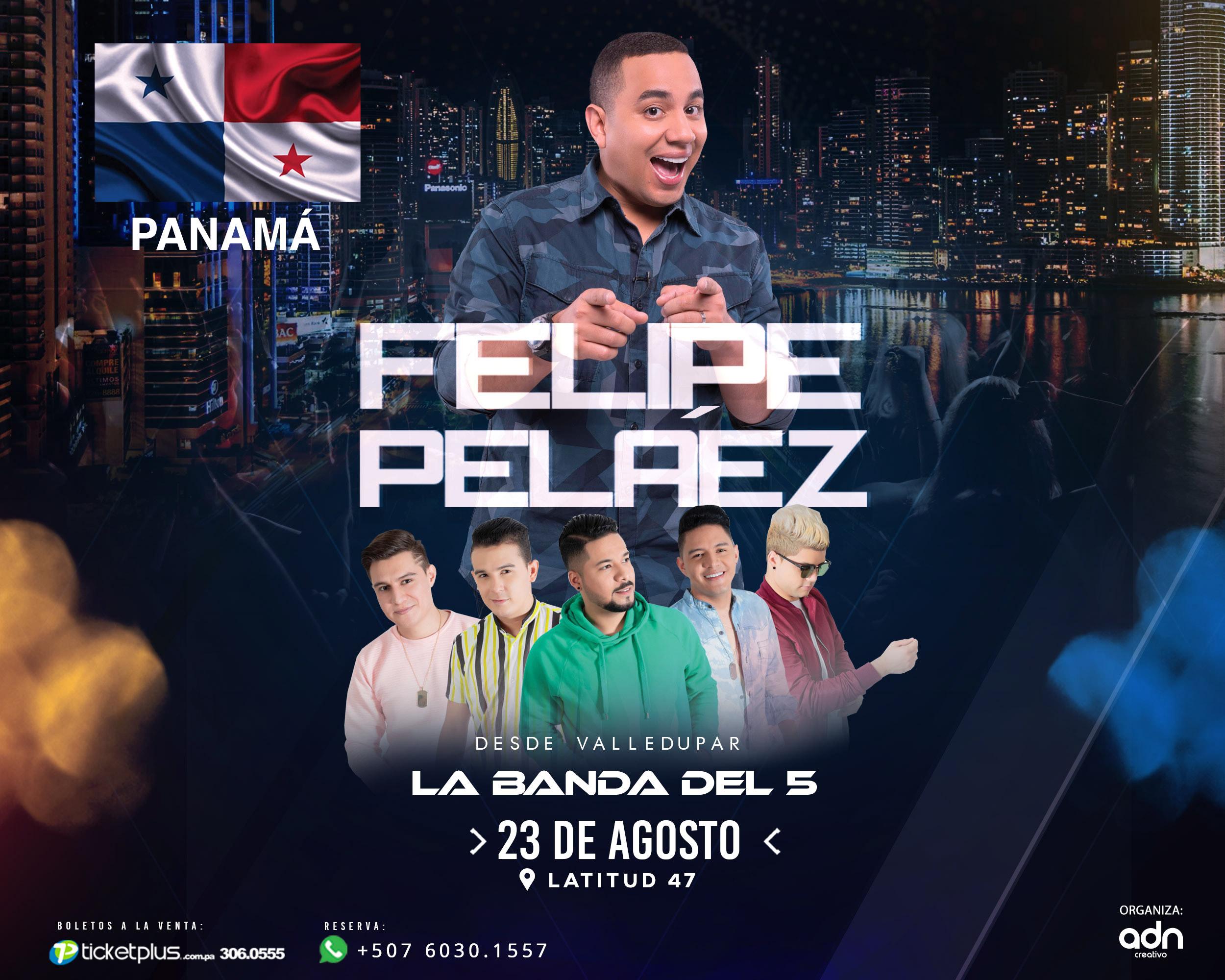 Photo of Felipe Peláez en concierto en Panamá