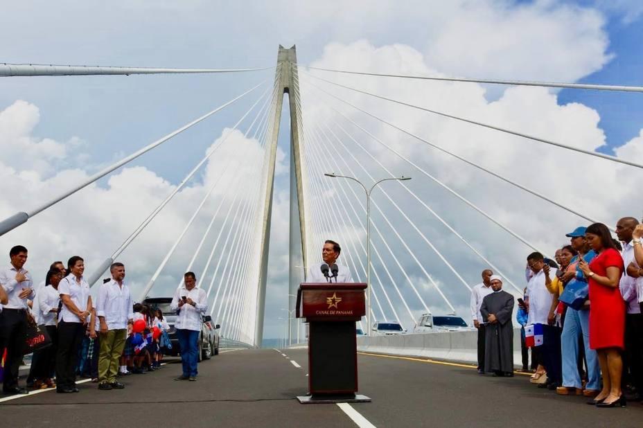 Photo of Panamá inauguro el tercer puente sobre el Canal, convirtiéndose en el más largo del país