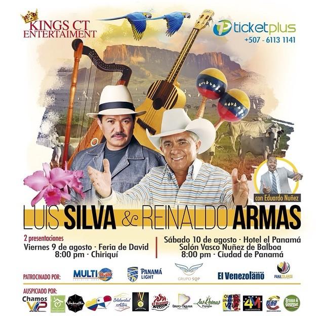 Photo of Este fin de semana concierto de Luis Silva y Reinaldo Armas en Panamá y Chiriquí
