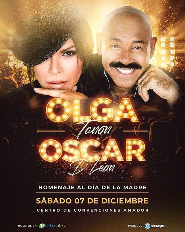 """Photo of Olga Tañon y Oscar d´ León en concierto en Panamá para celebrar """"El Día de las Madres"""""""