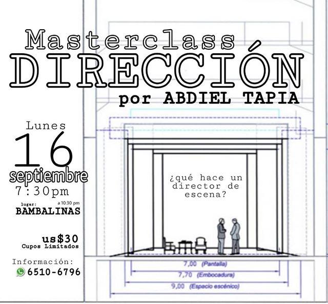 Photo of Masterclass Dirección por Abdiel Tapia