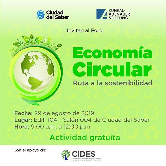 """Photo of Panamá presenta foro: """"Economía Circular, ruta a la sostenibilidad"""" completamente gratis"""