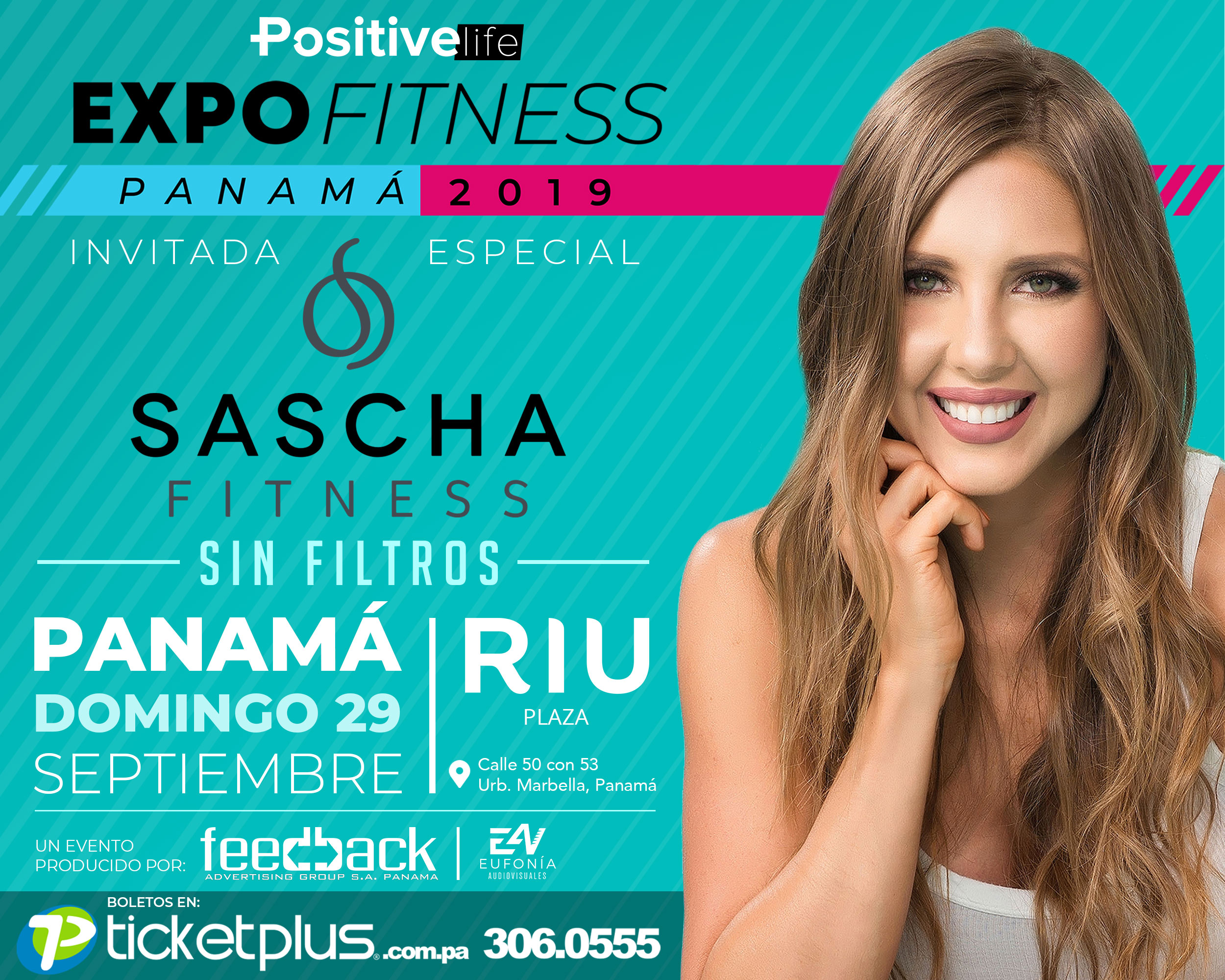 Photo of Sascha Fitness estará en Panamá como invitada especial de la Expo Fitness Panamá 2019