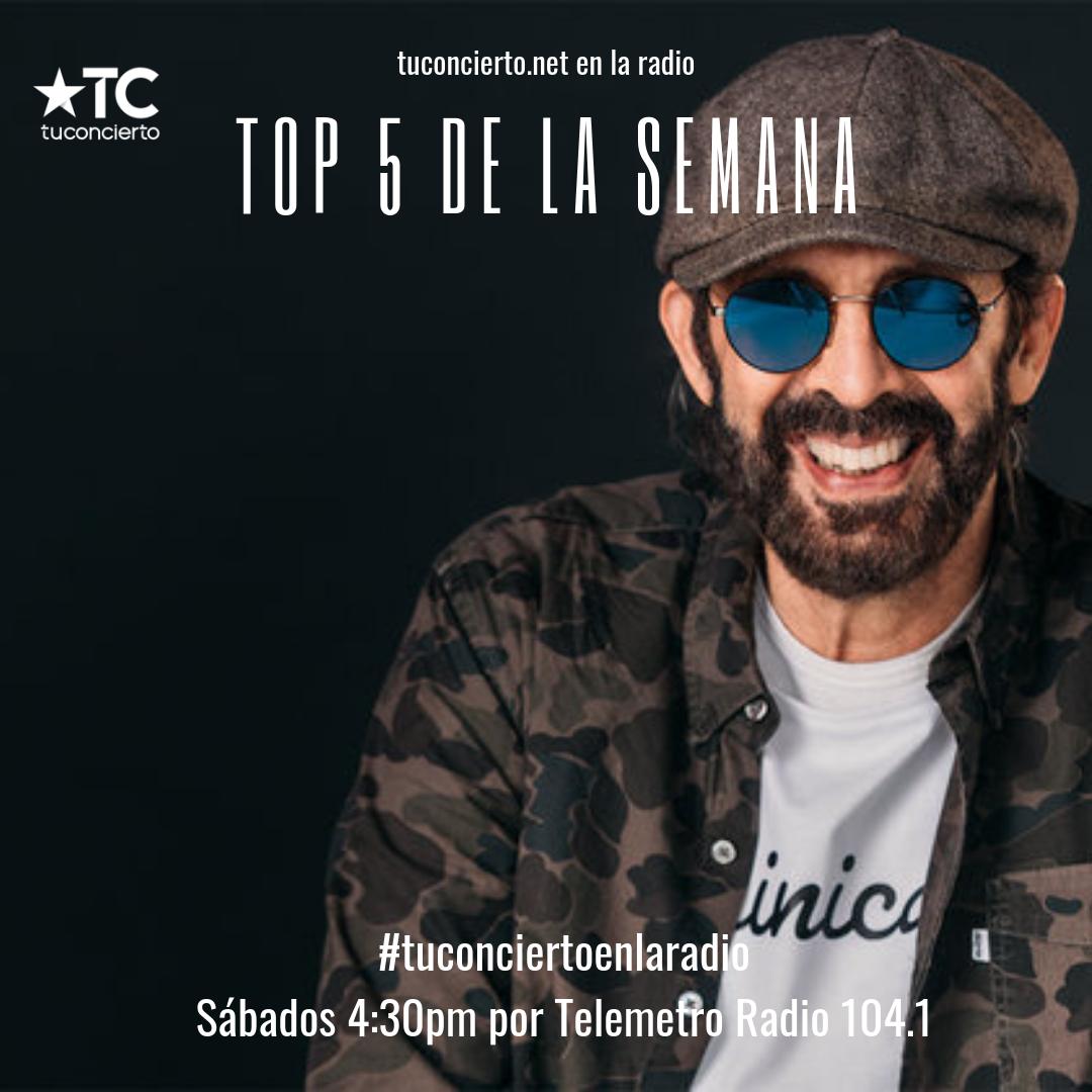 Photo of Juan Luis Guerra en el #Top5 de la semana en Tuconcierto en la radio