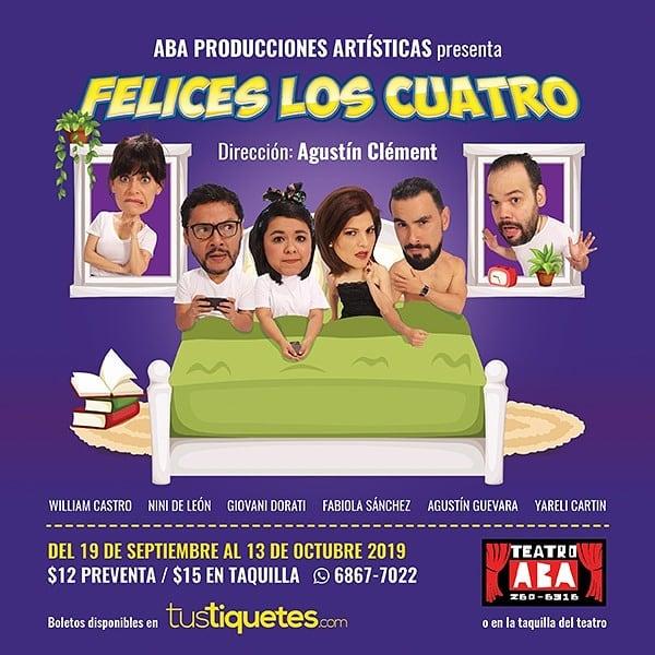 Photo of Teatro Aba presenta su nueva obra 'Felices los Cuatros'