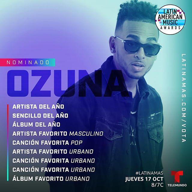 Photo of Ozuna encabeza las nominaciones de los Latin American Music Awards por segundo año consecutivo