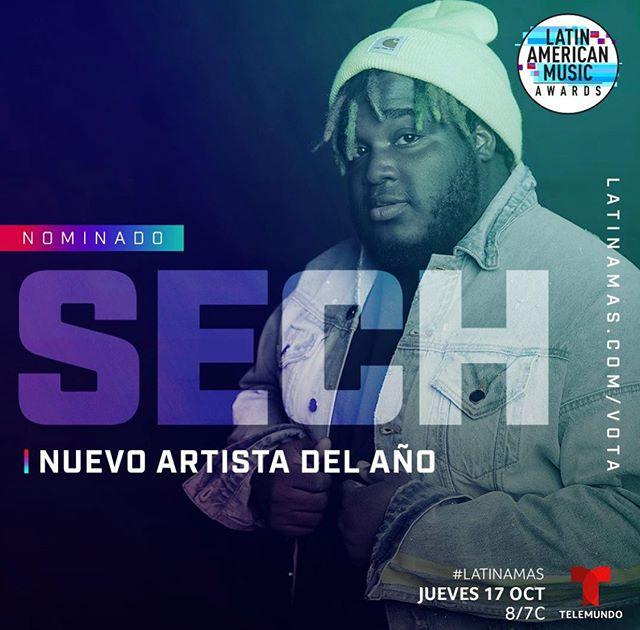 Photo of Sech consigue su primera nominación a los Latin American Music Awards como Nuevo Artista del Año