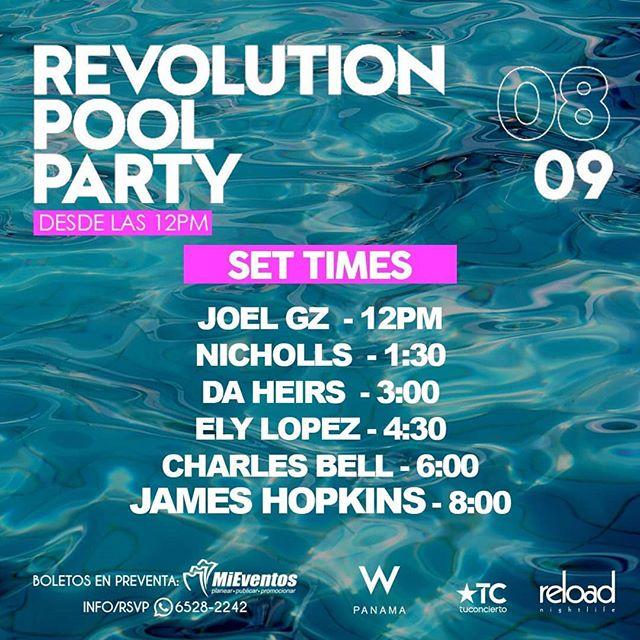 """Photo of Este 08 de septiembre """"Revolution Pool Party"""" en W Hotel Panamá"""