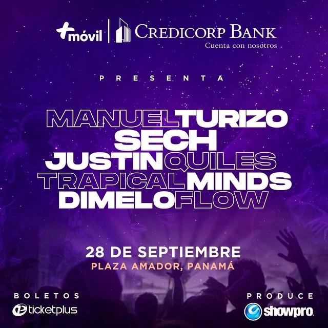 Photo of Falta pocos días para el Concierto de Manuel Turizo, Sech y Justin Quiles en Panamá