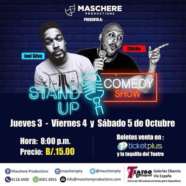 Photo of Teatro D' Raquel presenta Stand Up Comedy Show con Joel Silva y Chicho