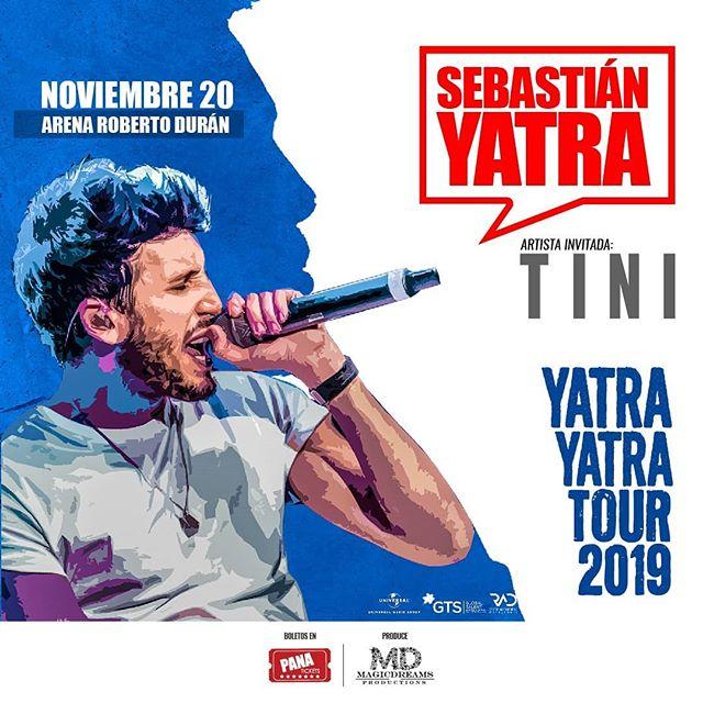 Photo of Sebastián Yatra llega a Panamá con su 'Yatra Yatra Tour' junto a su amada Tini Stoessel