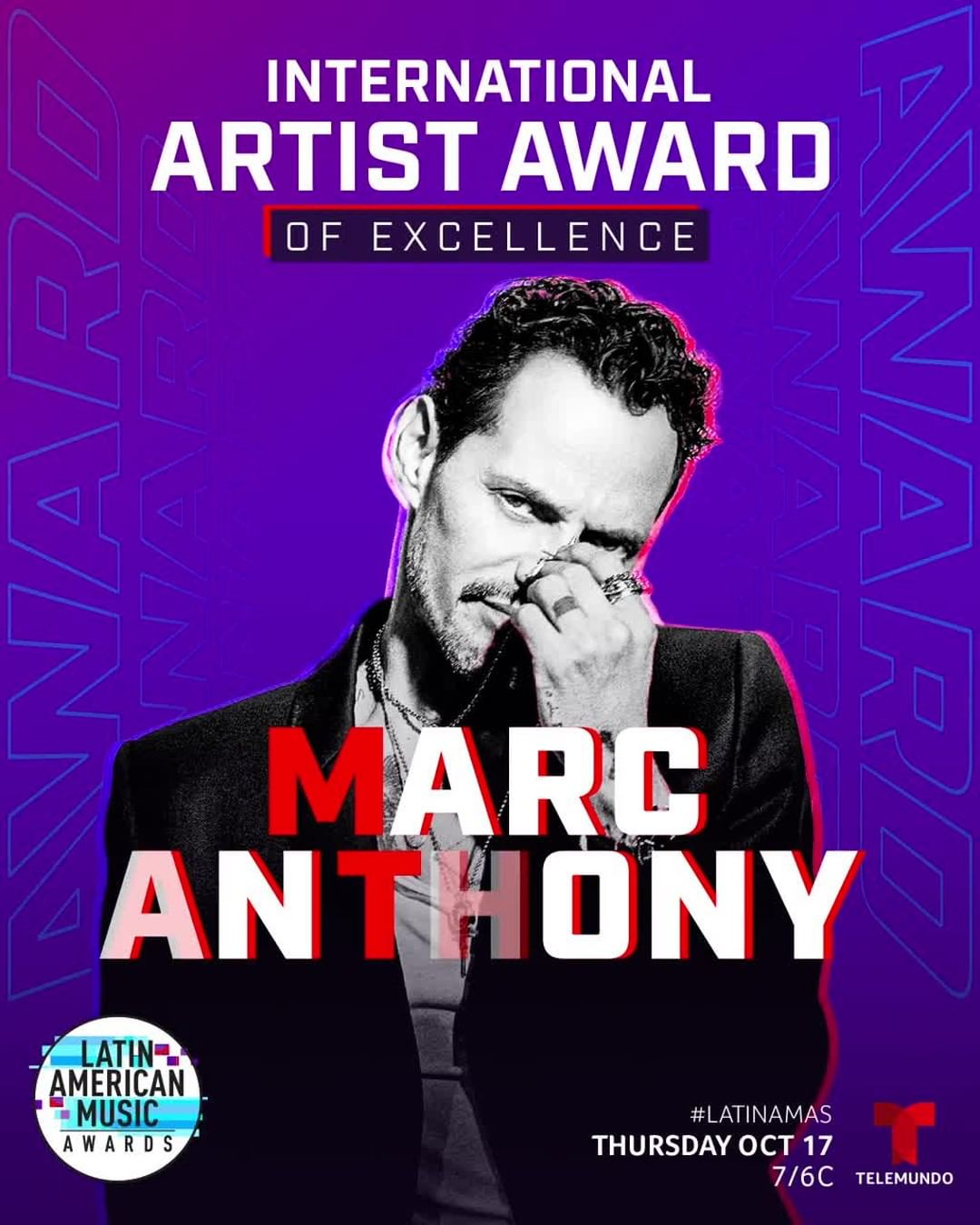 "Photo of Marc Anthony recibirá premio ""Artista Internacional de la Excelencia"" en Latin American Music Awards"