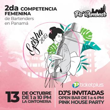 Photo of Se viene la 2da. Competencia Femenina de Bartenders Geisha 2019 en Panamá