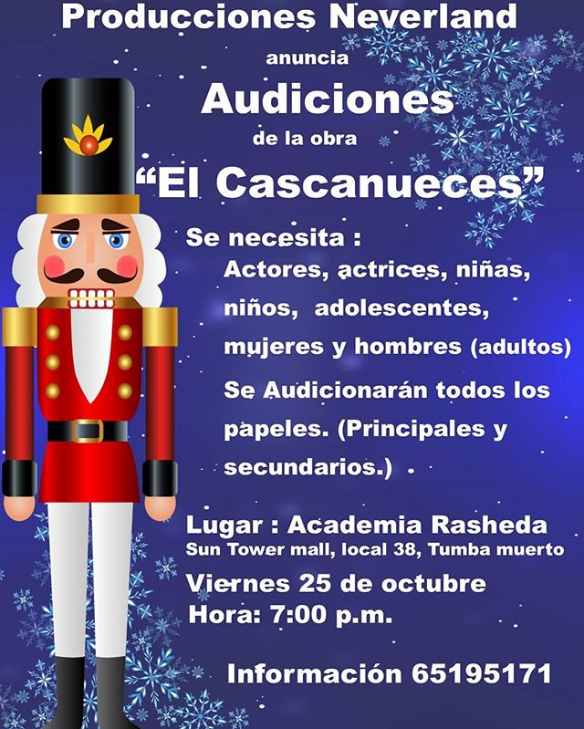 Photo of Audiciones abiertas para la obra «El Cascanueces»