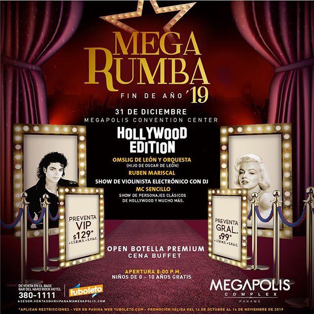 Photo of Megapolis Convention Center presenta «Mega Rumba de fin de año 19′»